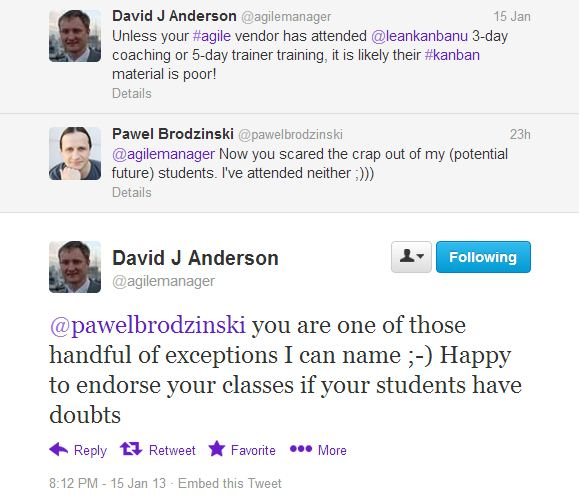 David Anderson's endorsement